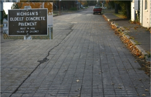 Oldest concrete pavement in Michigan