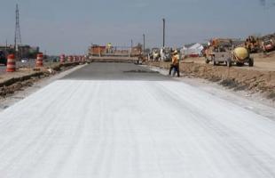 Curing Concrete Pavement