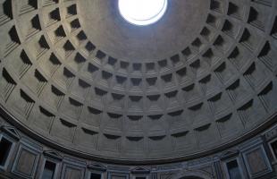 Roman Pantheon Concrete Dome